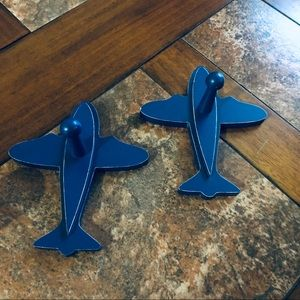 Airplane Wall Hooks Set of 2. Land of Nod